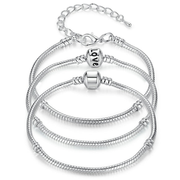 Silver LOVE Chain Bracelet & Bangle
