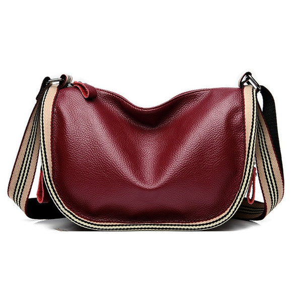 Leather Semicircle Saddle Bag
