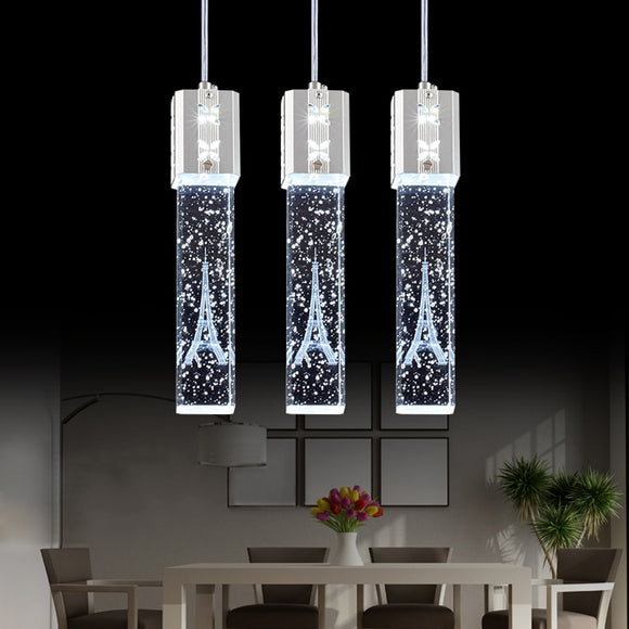 Crystal Bubble LED Pendant Lamp