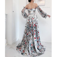 Load image into Gallery viewer, #27495 Floral Embroidered Evening Dress