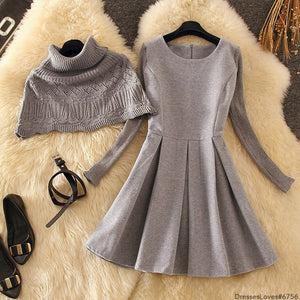 #6756 KNITTED SWEATER DRESS