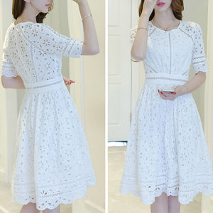 #7149  LACE SWING DRESS