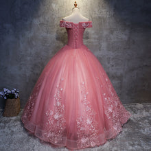 Load image into Gallery viewer, #7151 OFF SHOULDER EMBROIDERY SWING PROM DRESS