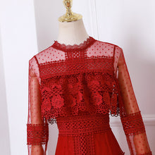 Load image into Gallery viewer, #7153 LACE EMBROIDERY DRESS