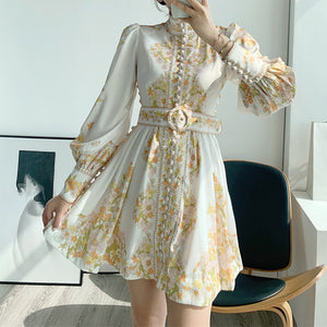 #7162 PALACE STYLE FLORAL SWING DRESS