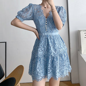 #7170 LACE SWING DRESS