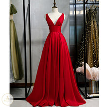 Load image into Gallery viewer, #7193 V-NECK EVENING DRESSES