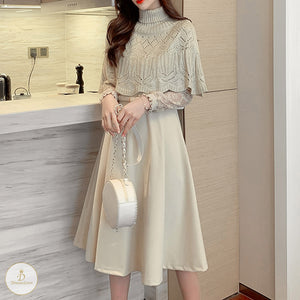 #7199 SHWAL KNITTED SUIT DRESS
