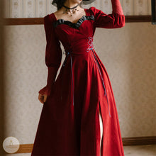 Load image into Gallery viewer, #7213 RETRO VELVET DRESS