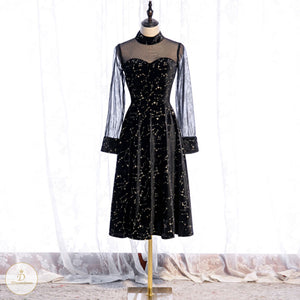 #7225 BLACK EVENING DRESSES