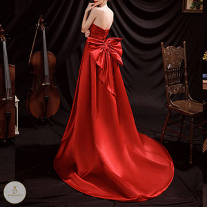 #7232 TRAILING EVENING DRESS