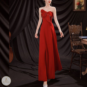 #7238 BANDEAU EVENING DRESS