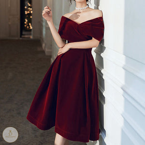 #7247 OFF SHOULDER DRESS