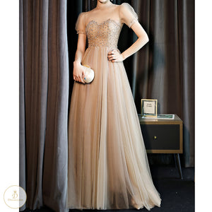 #7253 DIAMOND SEQUINS EVENING DRESSES
