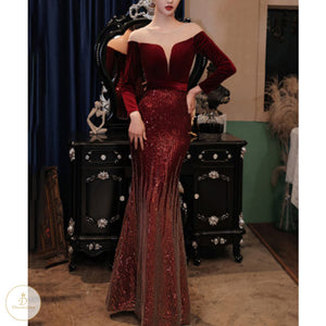 #7254 ONE SHOULDER EVENING DRESSES