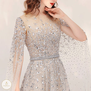 #7266 HAND-STITCHED EVENING DRESSES