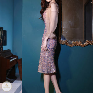 #7307 SEQUINED DRESS