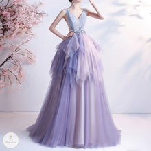 Load image into Gallery viewer, #7311 GRADIENT PURPLE EVENING DRESS