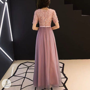 #7367 SEQUIN EVENING SWING DRESS