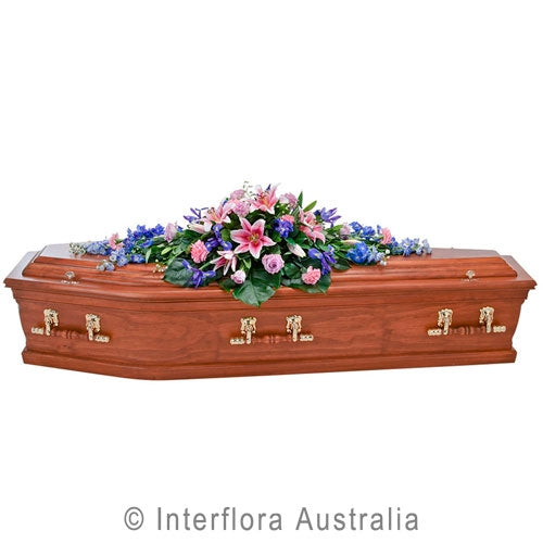 Casket Spray in Pink Lily Mix