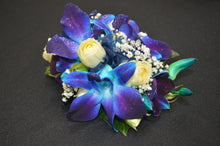Load image into Gallery viewer, Blue Orchid Corsage & Buttonhole