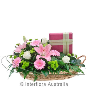 Flowers and Chocolates Arrangement