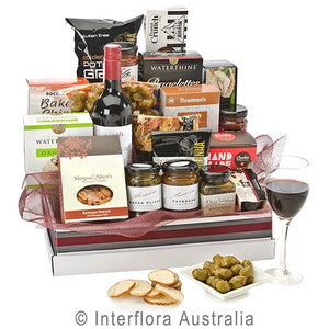 Gourmet Hamper with White or Red Wine