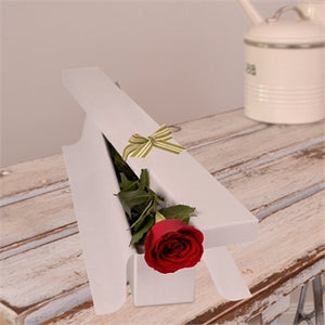 Single Rose in Long White Box