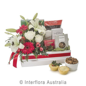 Christmas Hamper with Blooms
