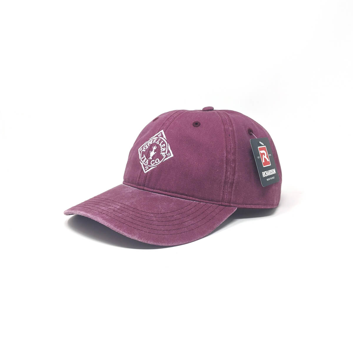 Piper & Leaf diamond logo denim hats - Briar Pink