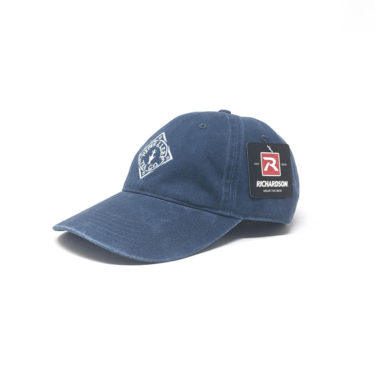Piper & Leaf diamond logo denim hat - Classic Blue