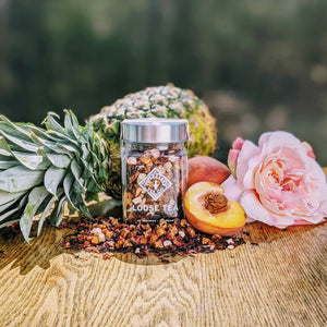 Orchard Peach Glass Jar of Loose Leaf Tea - 30 Servings