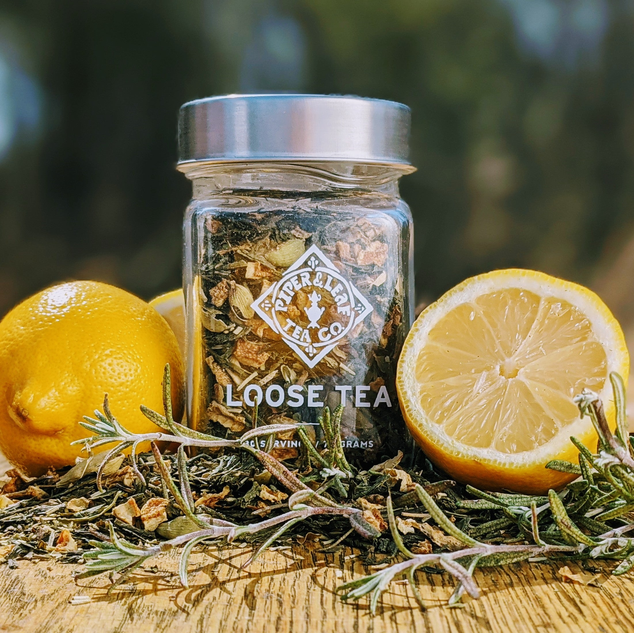 Springdrop Spritzer Glass Jar of Loose Leaf Tea - 30 Servings