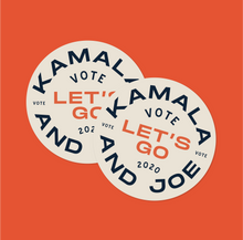 Load image into Gallery viewer, [Ships October] Sticker: Kamala & Joe, Let's Go!