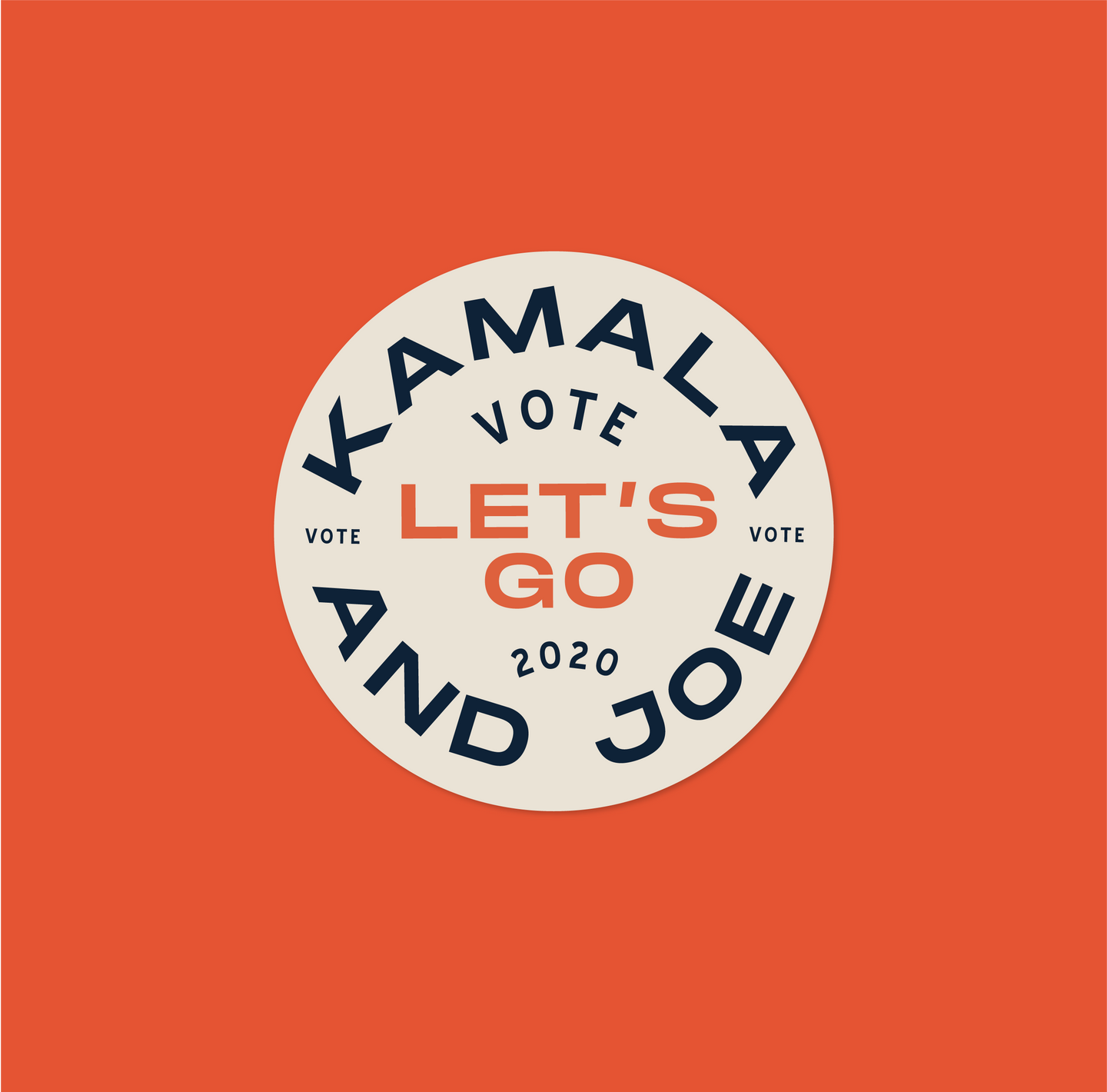 Sticker: Kamala & Joe, Let's Go!