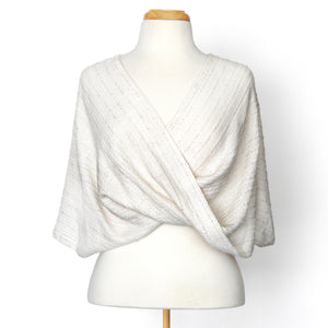 Ivory Twist Shawl