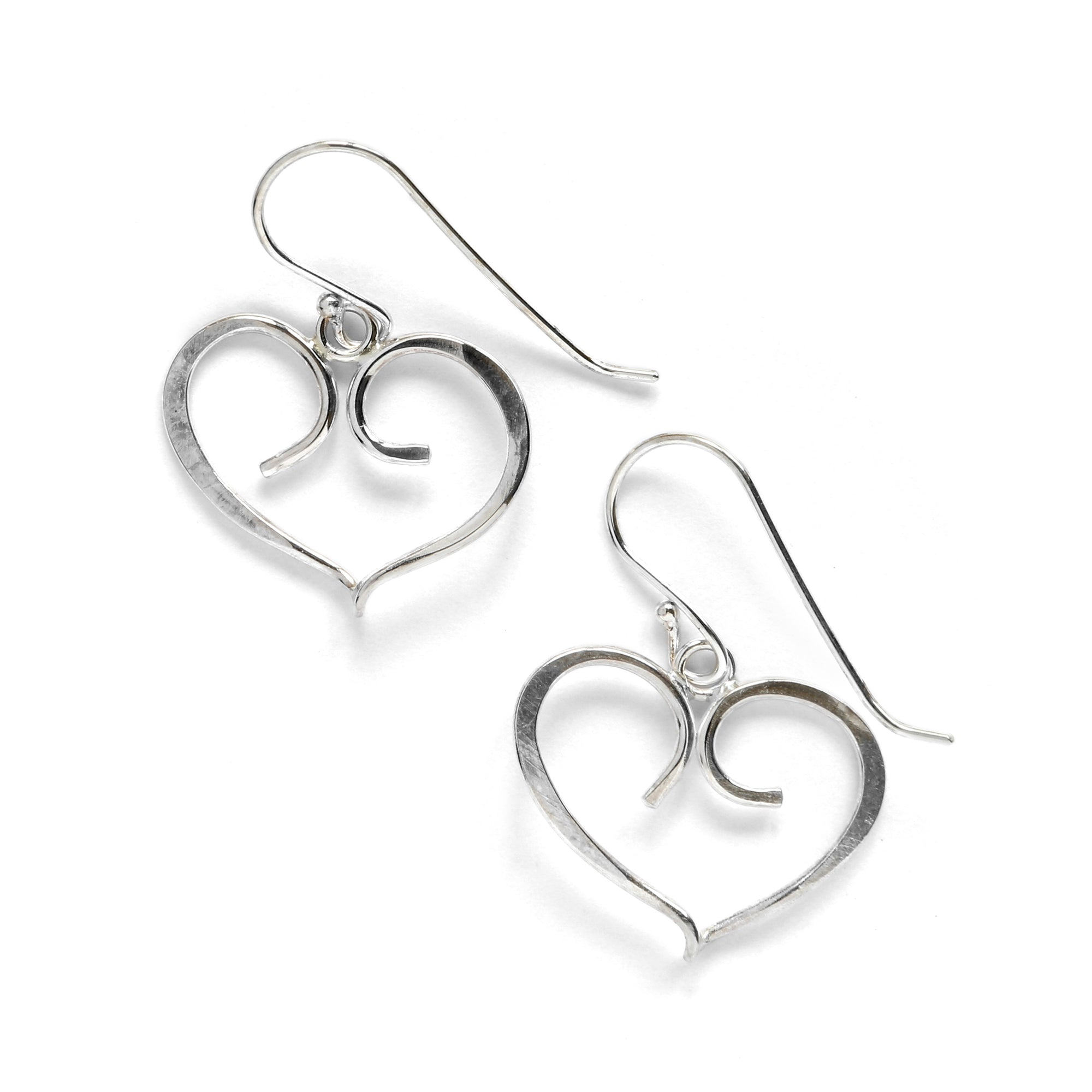 Forged Heart Earring