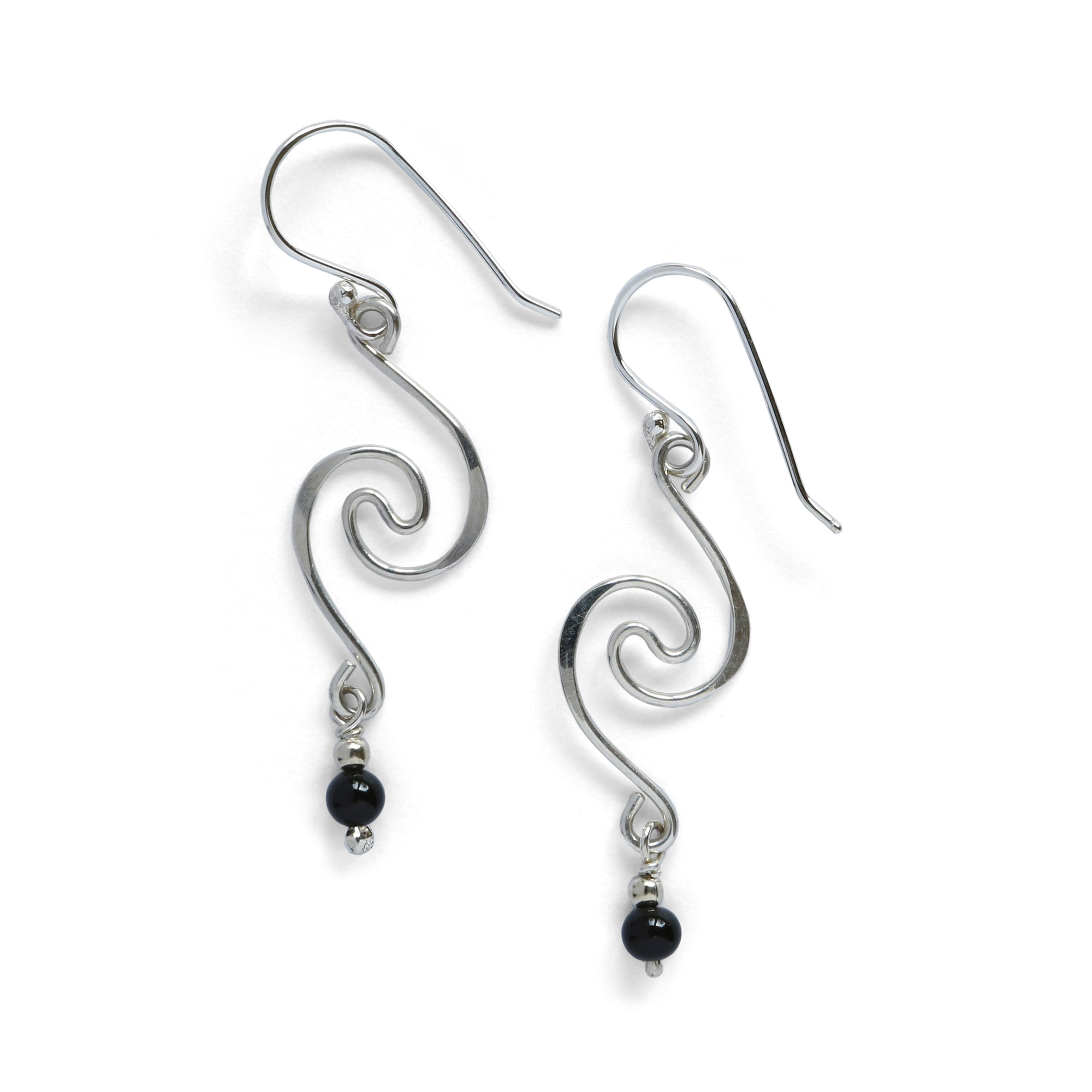 Double Spiral Drop Earring