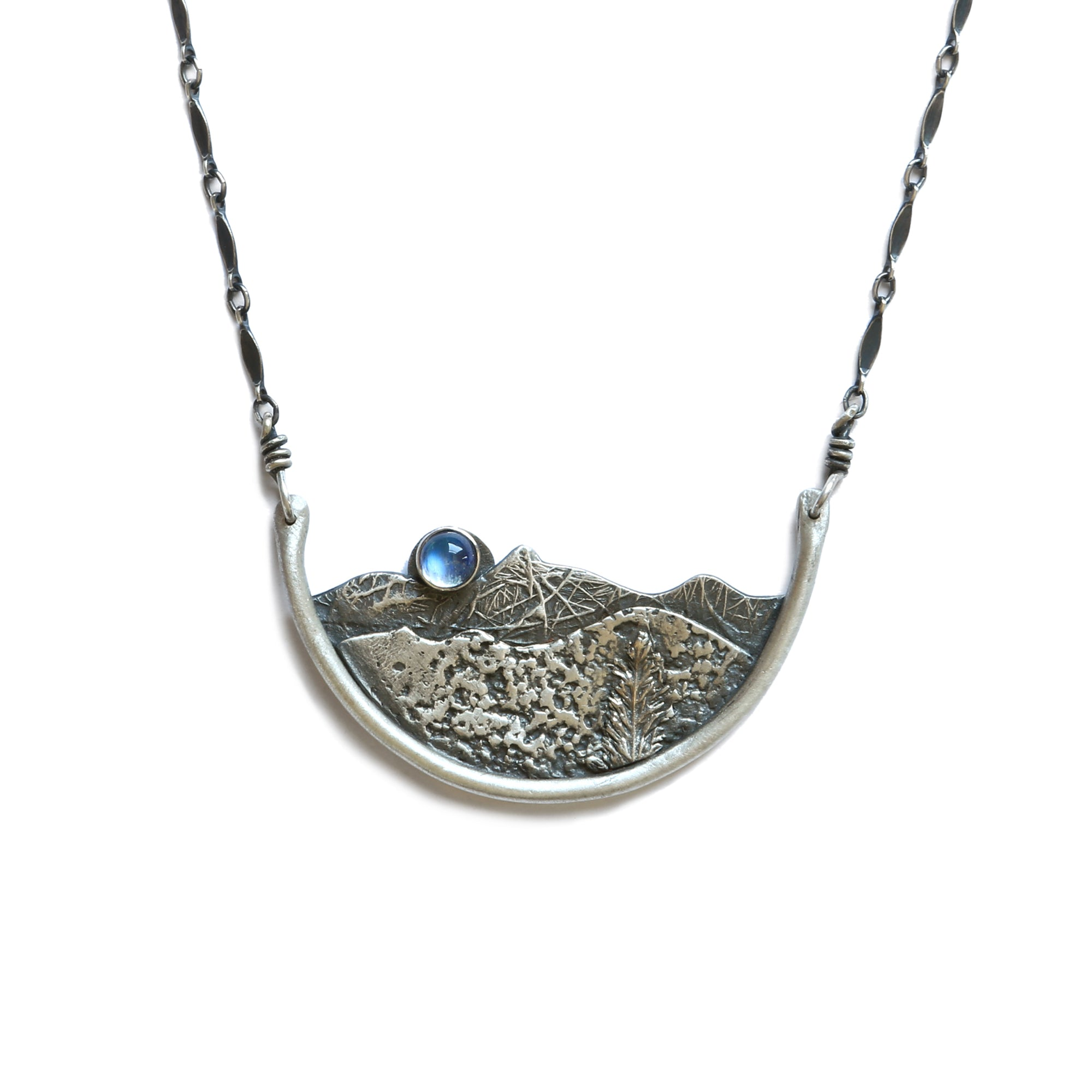 Small Crescent Landscape Necklace