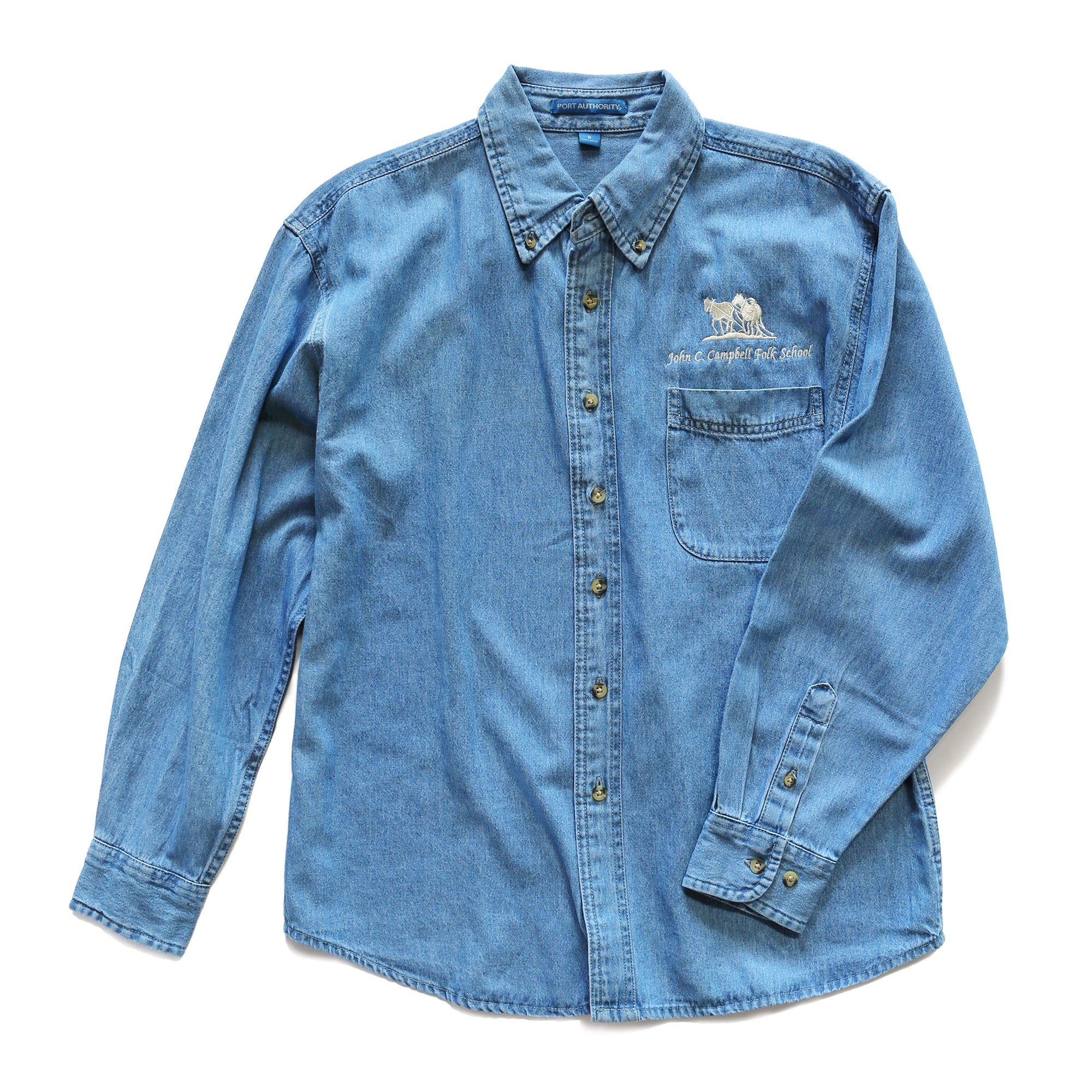 3X Logo Denim Shirt