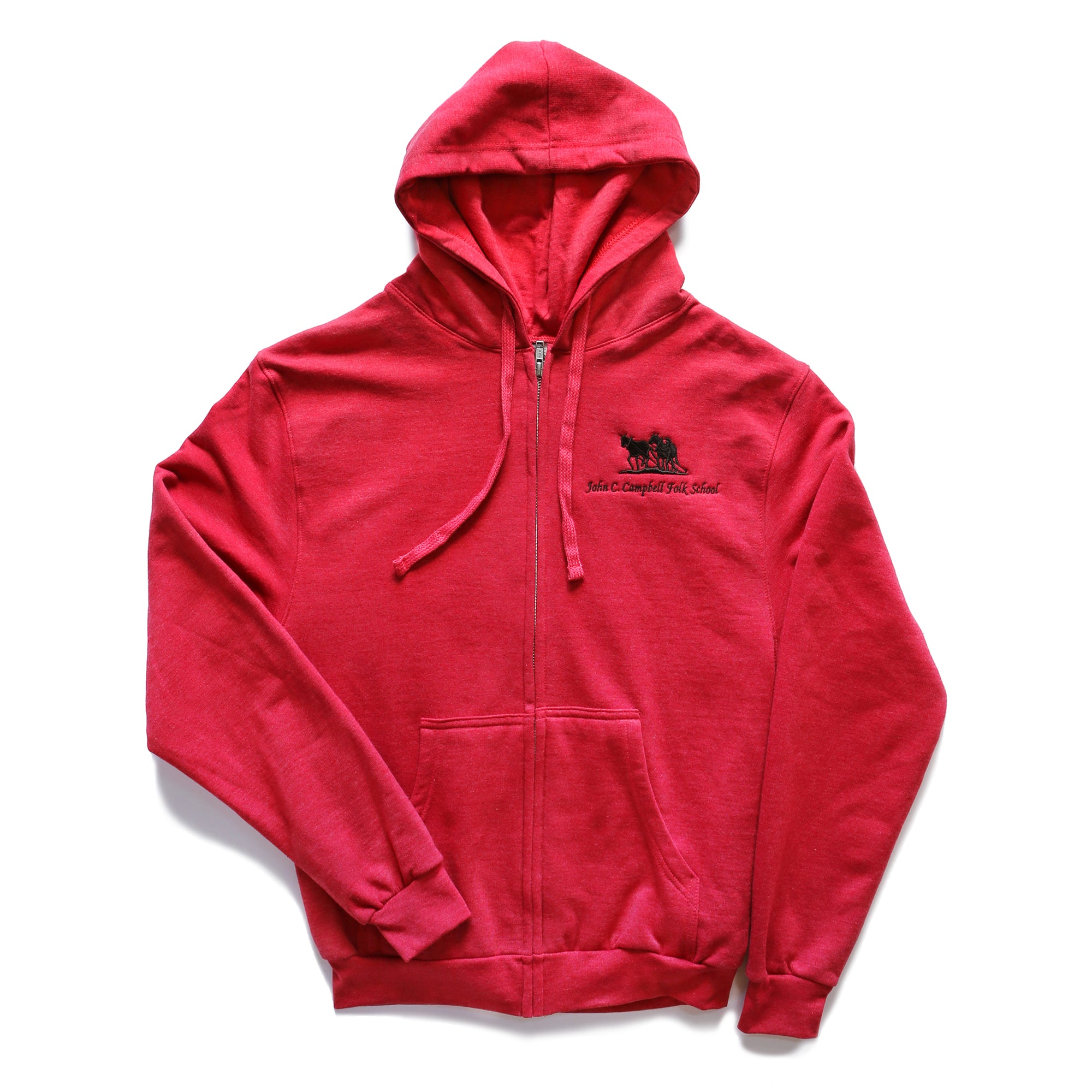2x Heather Red Hoodie