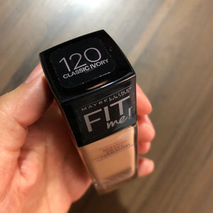 Base Fit Me Dewy + Smooth Foundation 120 Classic Ivory, Maybelline