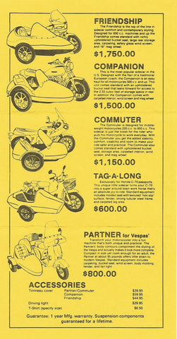 California Sidecar Models