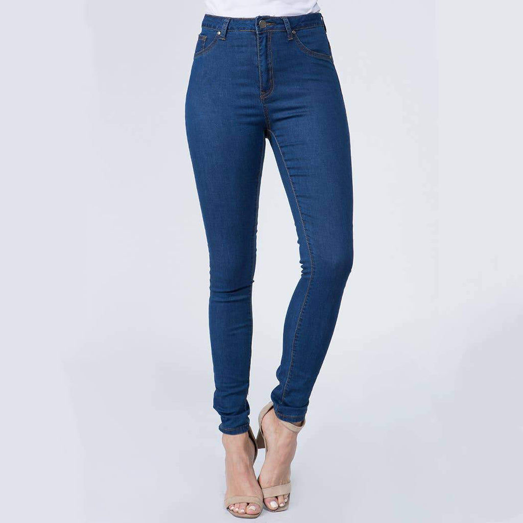 HIGH WAIST SUPER SKINNY JEANS - Earthy Wares