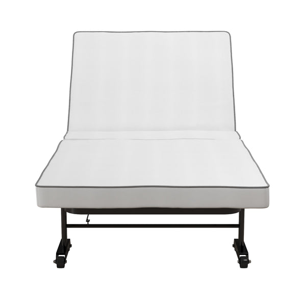 Folding Guest Bed With Memory Foam - Black - N/A