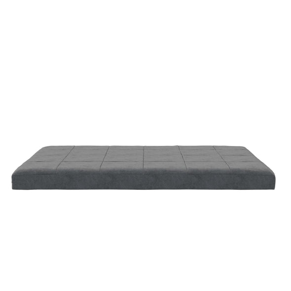 "6"" Square Quilted Futon Mattress - Gray - Full"