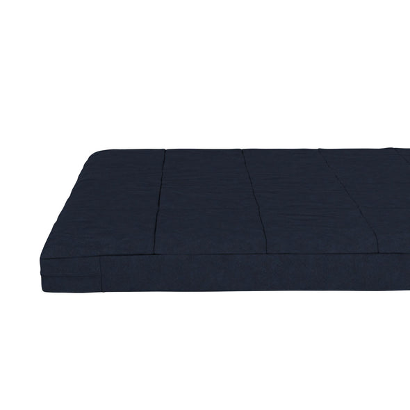 "6"" Square Quilted Futon Mattress - Blue - Full"