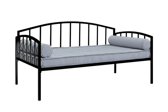 Ava Metal Daybed  - Black - Twin