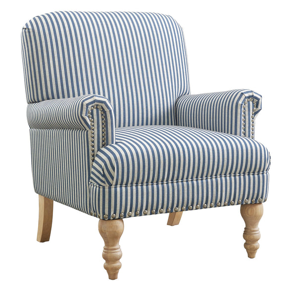 Jaya Accent Chair - Blue Stripe - N/A