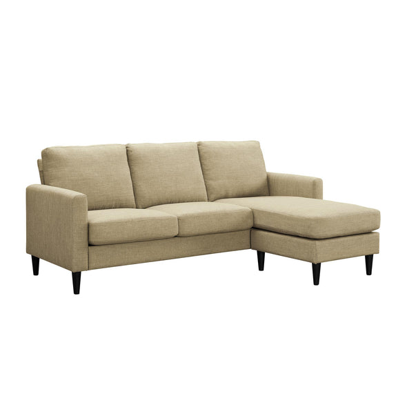 Kaci Reversible Contemporary Sectional - Beige - N/A